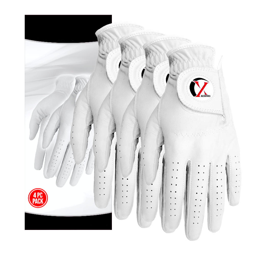 XEIR Pro Men's Golf Gloves(4 pack, Worn on Right for Left Handed Golfer)